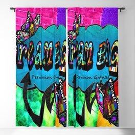 Dream big graffiti butterfly inspirational collage heart Blackout Curtain