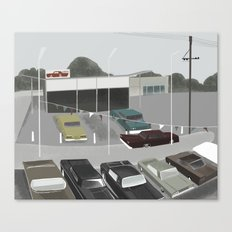 car lot Canvas Print