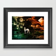 IT TAKES A DRAGON TO EARN TRUST OF A UNICORN Framed Art Print
