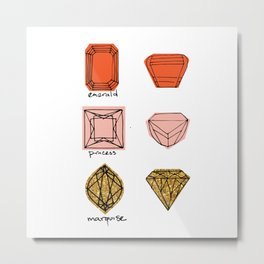 Fancy Jewels Illustration Metal Print