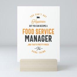 Food Service Manager Mini Art Print