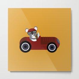 Koala Racer Metal Print