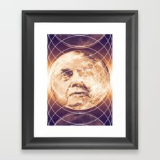 Man in the Moon Phases Framed Art Print