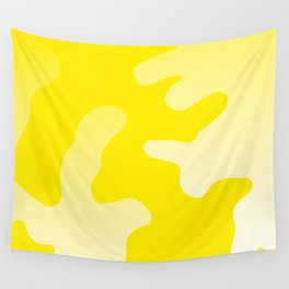 Yellow abstract art Wall Tapestry