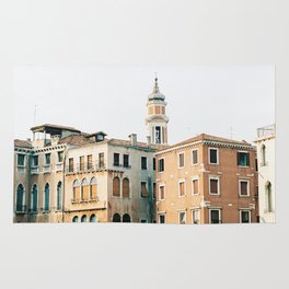 Travel photography | Architecture of Venice | Pastel colored buildings and the canals | Italy Rug