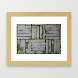 Hangzhou Slab floor Framed Art Print