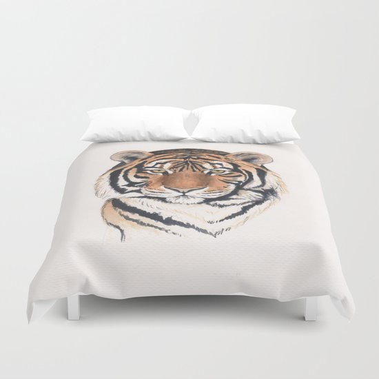 Tiger portrait no.2 Duvet Cover