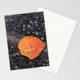 Leaf on the road Stationery Cards