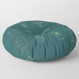 At the beach Floor Pillow
