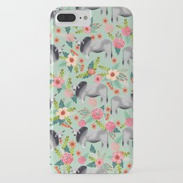Brahman Cattle cow farm floral homesteader farming cattle breeds iPhone Case