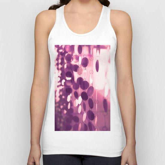 GLAM CIRCLES #Pink/Purple #1 Unisex Tank Top