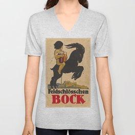 Vintage poster - Feldschlosschen Bock Unisex V-Neck