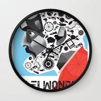kubrick Wall Clocks featuring Stan the Man: Stanley Kubrick by kelsea everett