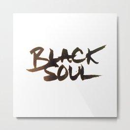 black soul Metal Print