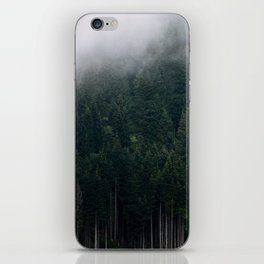 Mystic Pines - A Forest in the Fog iPhone Skin