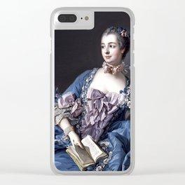 Madame De Pompadour Clear iPhone Case