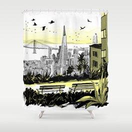 Visit San Francisco - Ina Coolbraith Park Shower Curtain