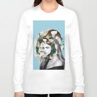 cara delevingne Long Sleeve T-shirts featuring cara delevingne by iRRaklio