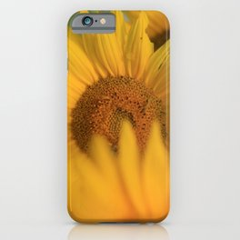 Fingers crossed & sweatin' it * Sunflower inchworm iPhone Case