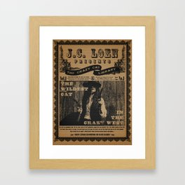 The Wildest Cat in The Crazy West Framed Art Print