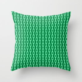 Chainlink No. 1 -- Seafoam Throw Pillow