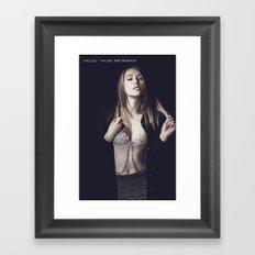 Feel me. Framed Art Print