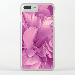 Hibiscus Rosa Double Petalled Purple Clear iPhone Case