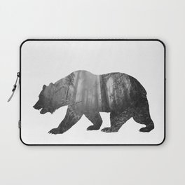 Bear Silhouette | Forest Photography Laptop Sleeve
