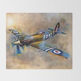 Spitfire Dawn Flight Throw Blanket