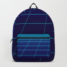 Minimalist Blue Gradient Grid Lines Backpack