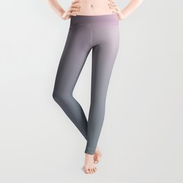 WATER WALL - Minimal Plain Soft Mood Color Blend Prints Leggings
