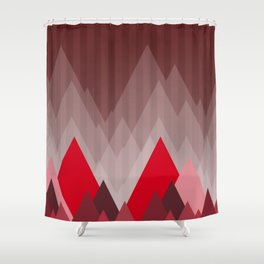 Triangular Mountain Range Shower Curtain