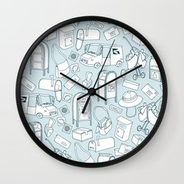 Tools of the Postal Worker Wall Clock