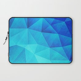 Abstract Polygon Multi Color Cubizm Painting in ice blue Laptop Sleeve