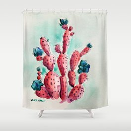 The Strawberry Cactus Patch Shower Curtain