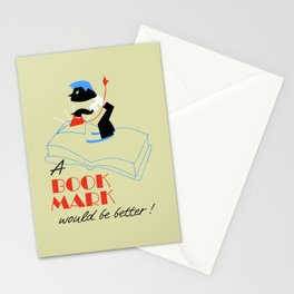 A bookmark would be better retro style Stationery Cards