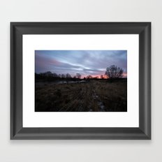 Winter Sunrise Over Chasewater Framed Art Print