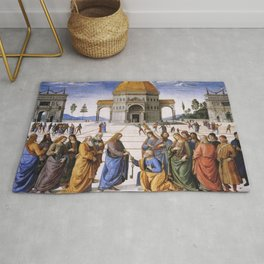 The Delivery of the Keys Painting by Perugino Sistine Chapel Rug