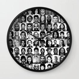 Celebrity Mugshots Wall Clock
