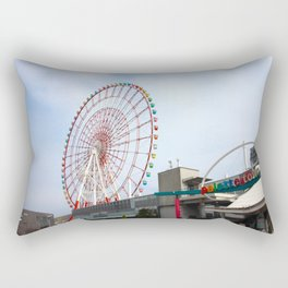 Odaiba's Palette Town and Ferris Wheel Rectangular Pillow