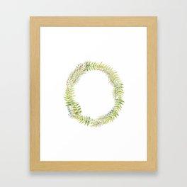Initial O Framed Art Print
