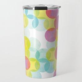 Rainbow Geometric Print Travel Mug