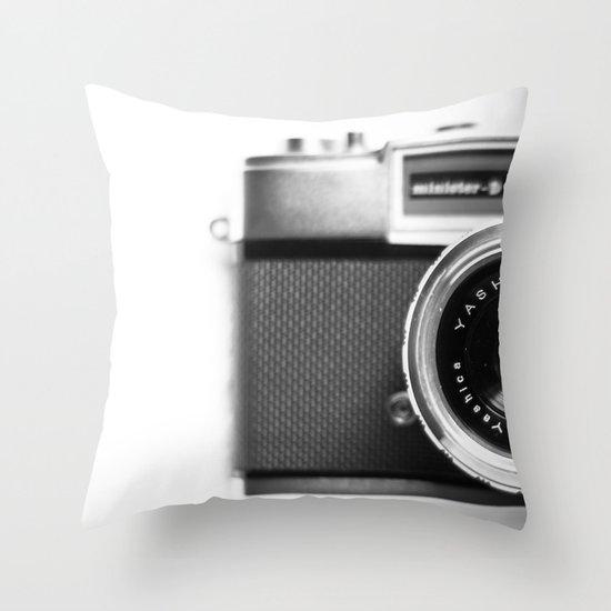 Camera Vintage Throw Pillow