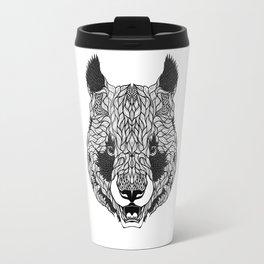 PANDA BEAR head. psychedelic / zentangle style Travel Mug