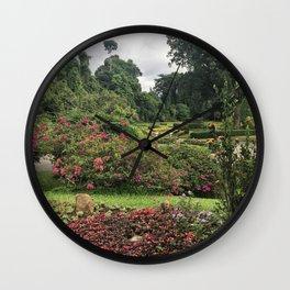 Stormy Garden Wall Clock
