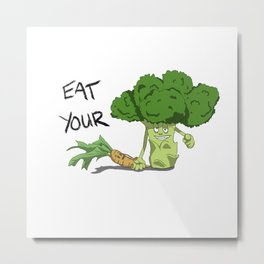 A lesson from Broccoli Metal Print