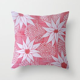 Red drawing Throw Pillow