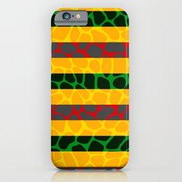 African Giraffe Multicolor Animal Print iPhone Case