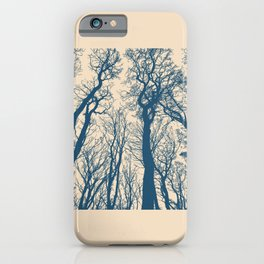 Blue Forest Silhouette iPhone Case