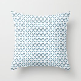 Light Blue Web Throw Pillow
